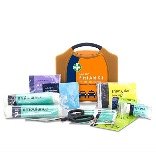 Public Service Vehicle First Aid Kit - PSV - in Large Orange Compact Aura Box - Wall Mountable...