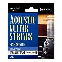 HISTORY AH1048 アコースティックギター弦 EX-LIGHT (ヒストリー)