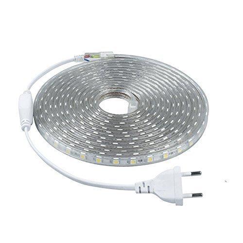 LED Streifen 2-10 Meter 230V ohne Trafo mit Schalter (5m)