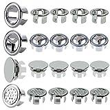 20 piezas de cubierta de desagüe de fregadero redondo para desagüe de lavabo tapón de desagüe anillo de desagüe para baño cocina