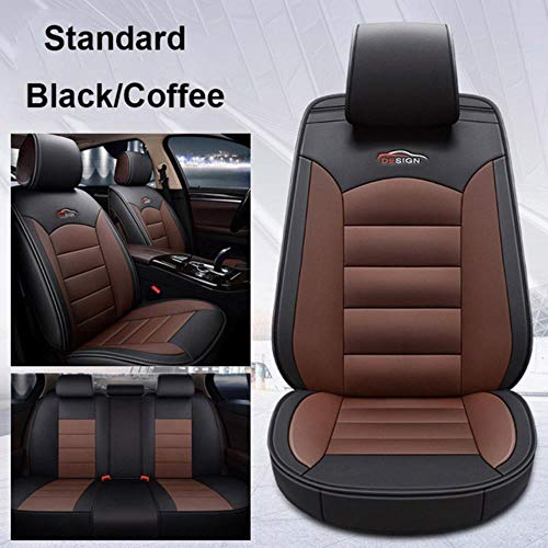 XIARI Universal Car Seat Covers Accessories For Jeep Grand Cherokee Wrangler Jk Renegade Compass Patriot Liberty Commander-Black Brown