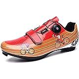 WDZJM Zapatillas de Ciclismo, Zapatillas de Bicicleta de montaña Informales con Asistencia eléctrica, Zapatillas de Bicicleta de Carretera Profesionales, (Color : B, Size : 46)