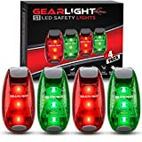 GearLight S1 LED Safety Lights [4 Pack] for Boat, Kayak, Bike, Dog...