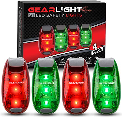 GearLight S1 LED Safety Lights [4 Pack] for Boat, Kayak, Bike, Dog Collar, Stroller, Runners and...