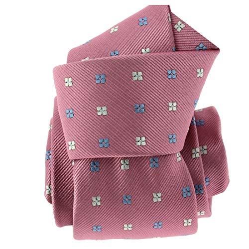 Clj Charles Le Jeune. Cravate. Fleurs, Microfibre. Rose, Discret et sobre.