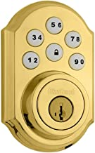 Kwikset 909 SmartCode Electronic Deadbolt featuring SmartKey in Lifetime Polished Brass
