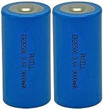 2 Pack 26500 (C Cell) 3.6V 9000mAh Lithium Battery