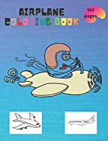 Airplane: coloring book for kids and adults