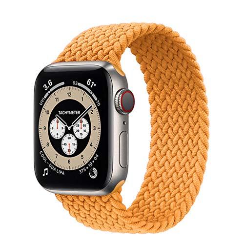 Solo lazo trenzado para correa de reloj de Apple 44mm 40mm 4mm 38mm pulsera de cinturón elástico de nailon de tela para correa IWatch Series SE