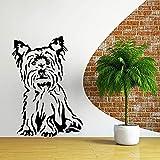 WERWN Creativo Perro Beagle Pegatinas de Pared habitación de los niños Arte de la Pared Vinilo Tatuajes de Pared Pegatinas Perro Animal Tema Tienda decoración del hogar