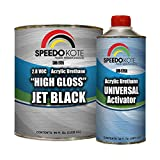 Speedokote High Gloss Jet Black 2K Acrylic Urethane, 3:1 Gallon Kit w/Activator, SMR-9705-M