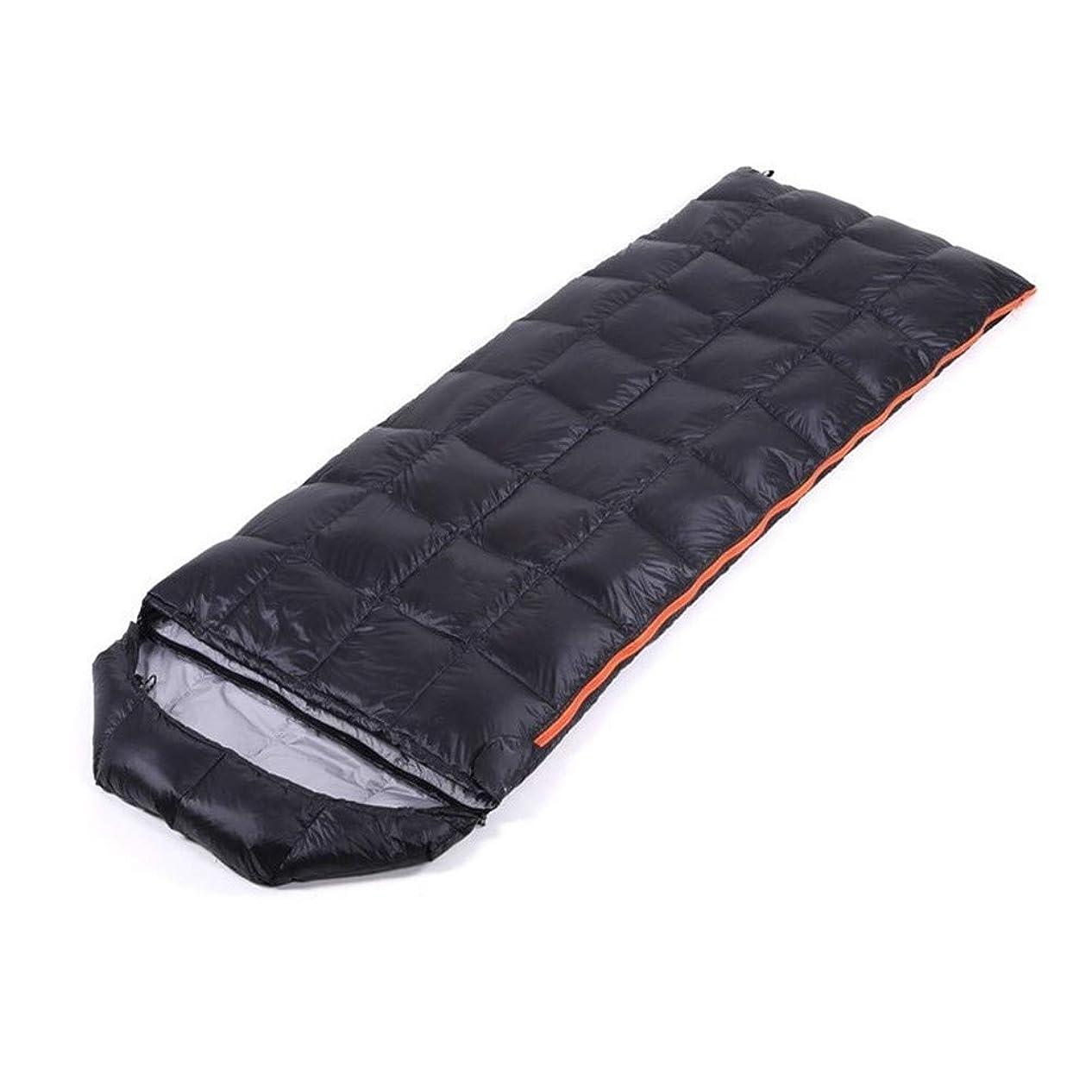 強制的スリップシューズアジテーション圧縮袋とキャンプ場寝袋アウトドアウルトラライトダウン長方形 屋外の寝袋キャンプハイキングハイキングポータブル防水寝袋 (Color : Black)