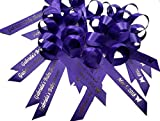 50 Personalized Ribbons for Bridal Shower Wedding Party Favors or Baby Showers Birthday Party Anniversary Quinceanera Baptism - Custom Made Pack of Cut Ribbons