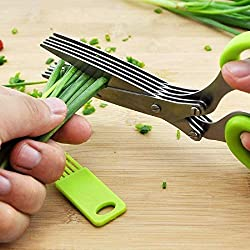 Best amazon kitchen hacking gadgets 2019 herb scissors