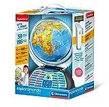 Clementoni - 12097 - Sapientino - Esploramondo Digital - globo educativo interattivo (versione in italiano) - mappamondo per bambini con penna interattiva, gioco educativo 7 anni+