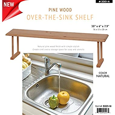 Wee's Beyond 3001-N Wood Over the Sink Storage Shelf, Natural