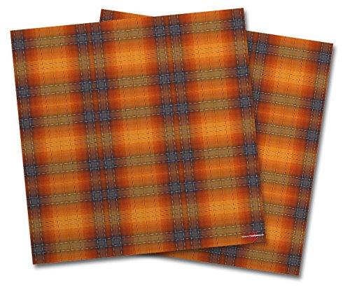 WraptorSkinz Vinyl Craft Cutter Designer 12x12 Sheets Plaid Pumpkin Orange - 2 Pack