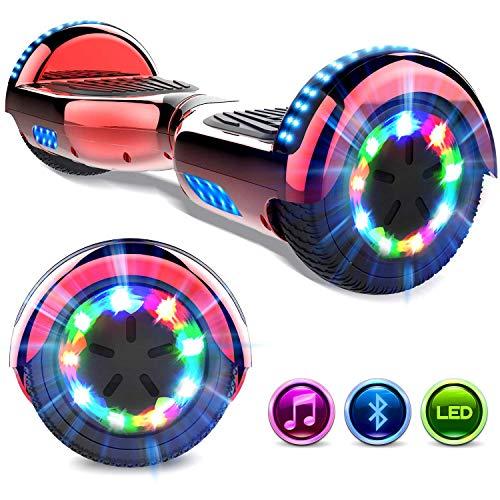 GeekMe Hoverboard Scooter eléctrico de 6.5 'Dual Motors 2 Ruedas de Equilibrio automático Scooter Board con Luces LED Bluetooth Modelo