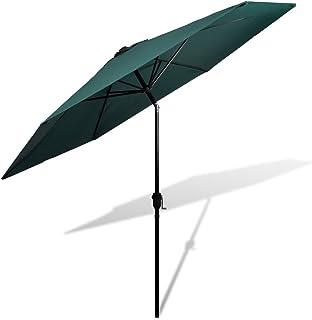 Festnight Sombrilla Terraza Parasol para Patio Verde 3m