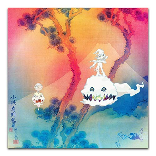 GUIBSGS FGVB Kanye West Kid Cudi 2018 Music Album Kids See Ghosts Poster And Prints Wall Art Poster...