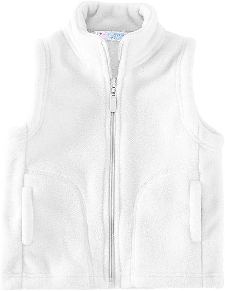 LittleSpring Kids Tulsa Mall Fleece Vest Sleeveless Full-Zip Jacket Warm New product