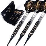 CUESOUL Black Scorpion Deluxe Dardos de plástico Set with Luxury Case, 16 gram (B2306)