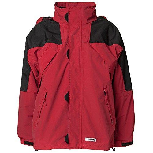 Planam Winterjacke Redwood, Arbeitsjacke XXL rot/schwarz