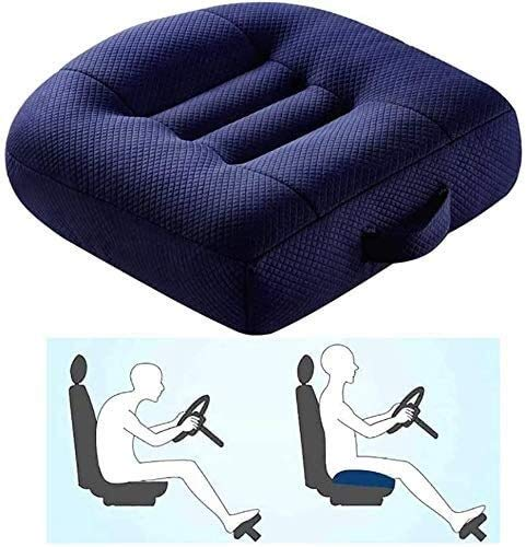 BESTPRVA Adult Booster Seat for Car, Portable Booster Seat for Driver, Passenger and Child, 3D Breathable Mesh Non-Slip Seat Cushions with Practical Handle,Blue,15 x 14.2 x 2.4 Name
