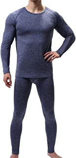 SSMDYLYM Thermal Underwear Slim Elasticity Compression Underwear Thermo Lingerie Long Johns Winter Men' s Underwear (Color...