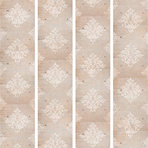 murando - PURO TAPETE selbstklebend 10m Wandtattoo dekorative Möbelfolie Dekorfolie Fotofolie Panel Wandaufkleber Wandposter Wandsticker - Ornament Chic Barock Vintage f-A-0223-j-c