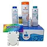 HotTubClub 2 Month Spa and Hot Tub Chemical Kit - Contains (Scum Absorber, Test Strips, SpaGuard Bromine Granules, Spa Shock-Oxidizer and Stain and Scale Control (5 Items)