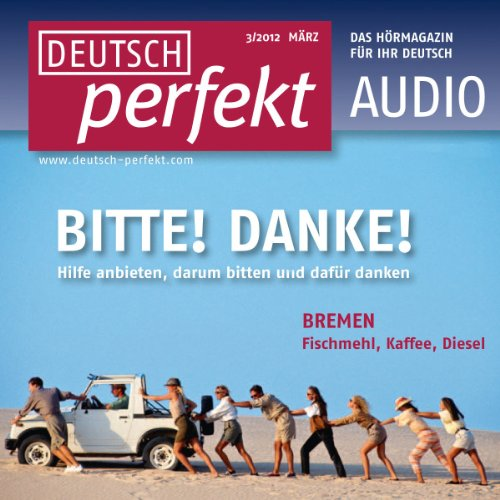 Deutsch perfekt Audio - Helfen und sich bedanken. 3/2012 Titelbild