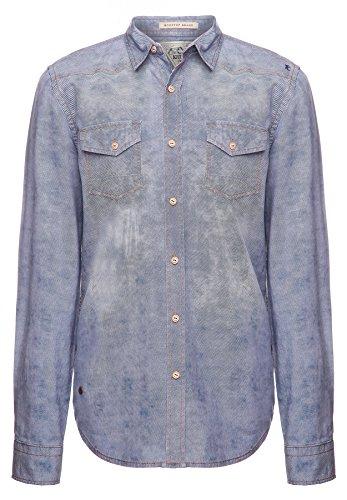 khujo Herren Hemd, Farbe:Blue Denim;Größe:XXL