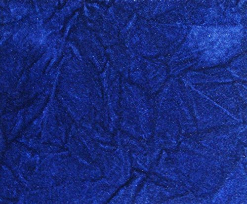 Crushed Flocking Velvet Upholstery/Curtain Fabric 10 Colors 60' by The Yard (Royal Blue)