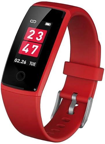 LIRONG Smart Bracelet Couleur, La Pression Artérielle Tension Cardio-Fréquencemètre Surveillance bleutooth Sports étape Counter Information Est Compatible Avec Android, IOS