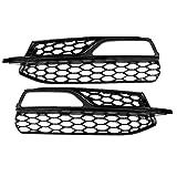 Grille de phare antibrouillard - 1 paire de calandre pare-brise avec garniture noire Compatible avec les Audi A3 S-Line S3 13-16