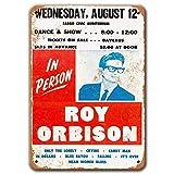 Agedsign Roy Orbison Poster, Vintage Metal Wall Art...