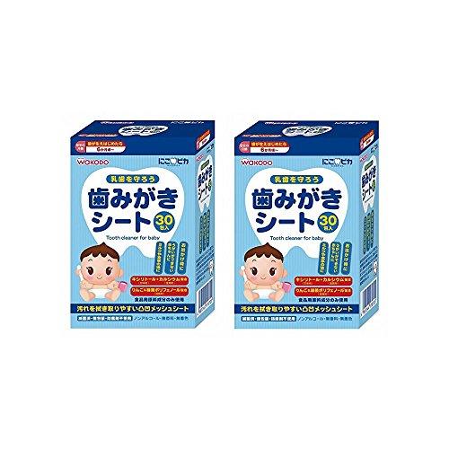 【まとめ買い】にこピカ 歯みがきシート ベビー 30包【×2個】