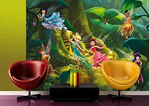 AG Design FTDXXL 2226 Disney Fairies Feen, Papier Fototapete Kinderzimmer- 360x270 cm - 4 teile, Papier, multicolor, 0,1 x 360 x 270 cm