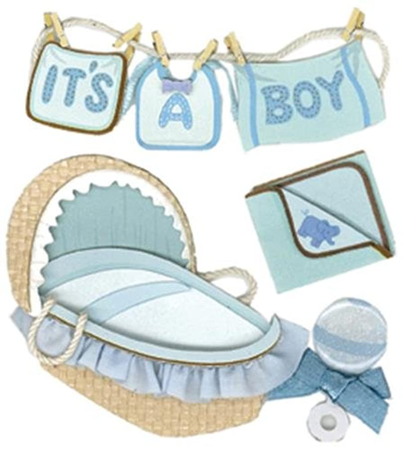 Jolee's Boutique Boy Clothesline Dimensional Stickers