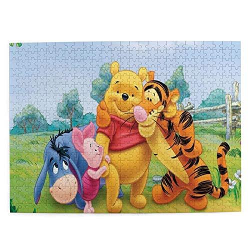 EXking Holzpuzzles Winnie The Pooh Holzpuzzle Spiele für Erwachsene Familienpuzzle Kinderpuzzle, Langeweile Buster Aktivität, Denksport für Jungen Mädchen Geschenke Herausforderndes Puzzlespiel