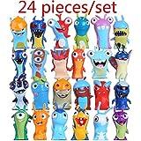 fyb 24pcs / Set Slugterra Figuras de acción de Juguete 5cm Mini Slugterra Figuras de Anime Juguetes Muñecas Slugs Niños Niños Niños, 24pcs
