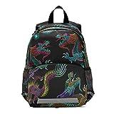RELEESSS Mochila para niños con correa en el pecho, mochila escolar preescolar, mochila para niños y niñas
