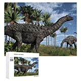 Ampelosaurus Dinosaurs Wooden Puzzle 500 Pieces Jigsaw Puzzle for Adults Kids Large Puzzle Game Toys Gift Christmas Holiday Present