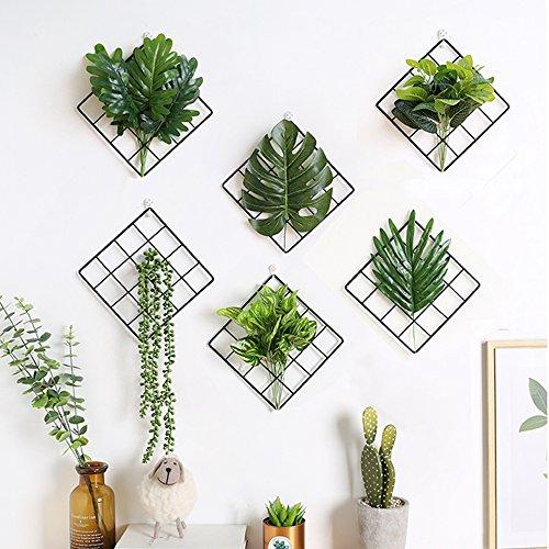 Laugh Cat 3Schwarz Metall Grid Panel Wand Pflanzen Blumen Halter Bild Display Bulletin-Board Modern Home Dekoration
