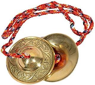 Guruji Divinity Handmade Percussion Instrument - Hand Cymbals Brass Manjira Manjeera - Indian Musical Instrument