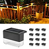 CHINLY Solar Deck Lights 12-Pack Outdoor Waterproof led, Warm White & Color Changing, Fence Post Solar Lights for Stairs, Fence, Deck, Garden, Patio Yard, Porch and Step