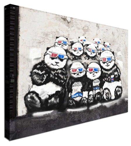 3D Panda NEW BANKSY Modern Art Canvas Print 12x16 inches