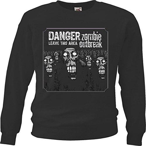 sweatshirts met rijbewijs, THISAREA, Zombi, motorshirt Zombi, voor het lopen van de motorfiets, gothic-schakelaar, dixon-schakelaar, zwart