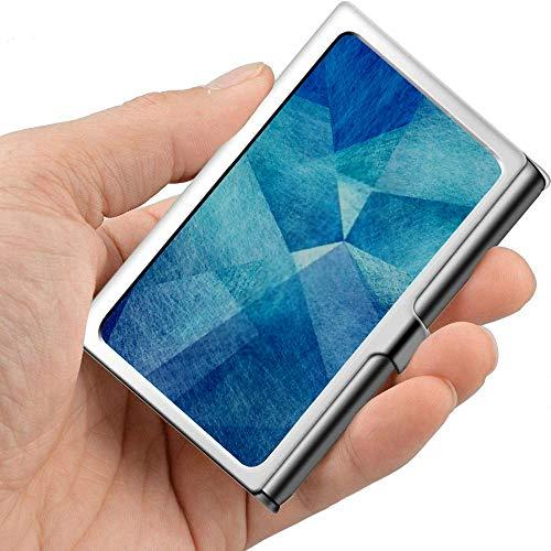 Professionelle Metall Visitenkarte Abstrakt Blauer Hintergrund Weiß Himmel Farben Halter Tasche Visitenkarte Fall Schlank Visitenkarte Träger Busines